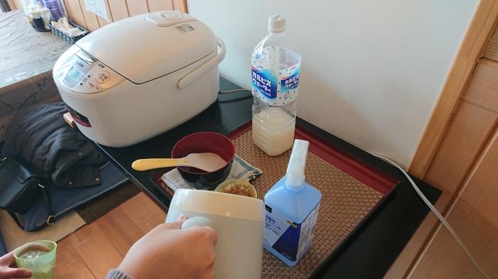 ご飯とジュース